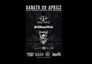 Bull Bastard + Overactive + Insanhead + Gigantomachia Live Trecentosessantagradi Roma