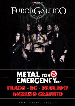 FUROR GALLICO Confermati al Metal For Emergency