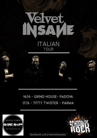 Velvet Insane, due concerti in Italia a Giugno