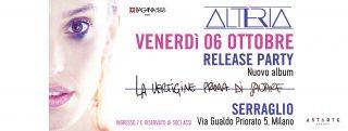 ALTERIA Venerdì 6 ottobre il Release Party del nuovo album a Milano
