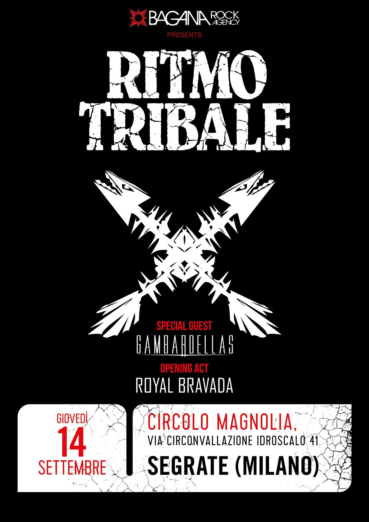 RITMO TRIBALE Dal vivo a Milano il 14 settembre Annunciati tutti gli special guest