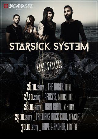 STARSICK SYSTEM Nuove date e aggiornamento del Tour UK di Ottobre