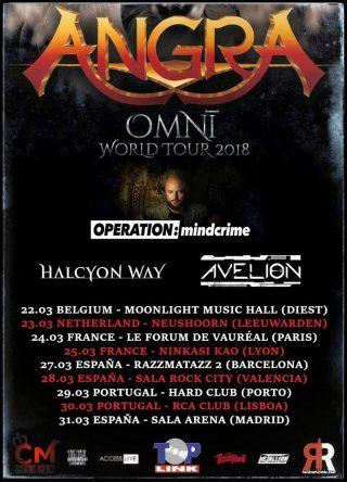 Avelion to tour w Angra!