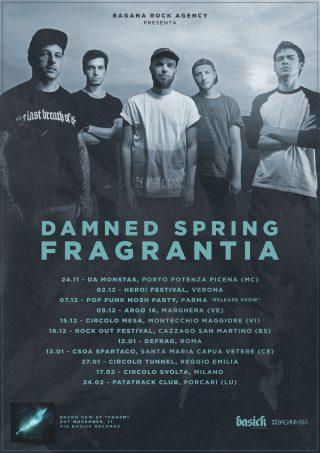 DAMNED SPRING FRAGRANTIA Il nuovo tour italiano a supporto di Chasm da novembre