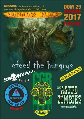 Tetra Punk Snowball & CGB Live Bandidos Place Messina 29-10-17