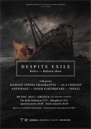 DESPITE EXILE - Sabato 912 a Venezia il Release Show di Relics - Dettagli e orari
