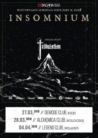 TRIBULATION - Special Guest delle tre date italiane degli Insomnium