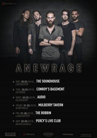 ANEWRAGE - In tour nel Regno Unito a fine Maggio, sei show annunciati